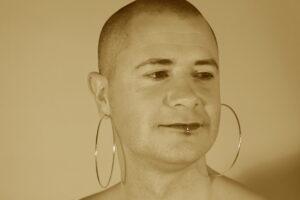 Kes Otter Lieffe, author of utopian trans speculative fiction novels